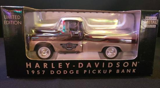 Harley Davidson 1957 Dodge Pickup Bank