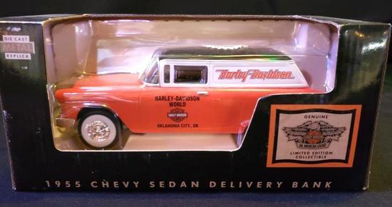 Harley Davidson 1955 Chevrolet Sedan Delivery Bank