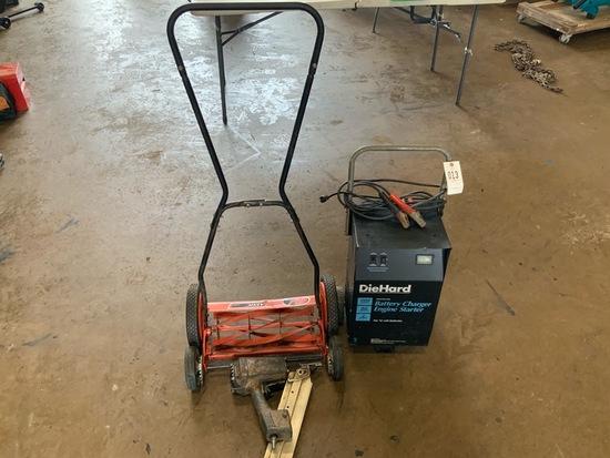 Die hard Battery charger,lawn mower I& nail gun