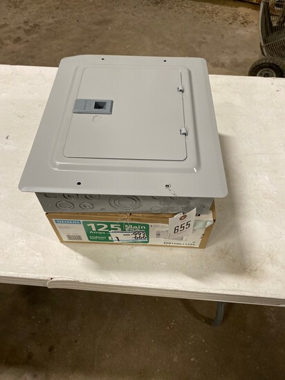 New 2- 125 Amp Main lug Indoor Breaker Box