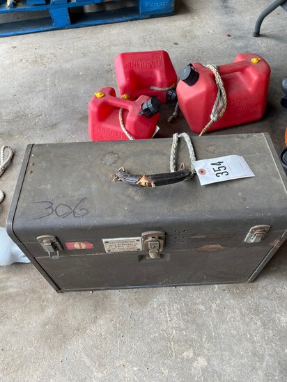 Tool box & Gas Cans