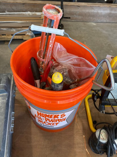 Bucket with tools