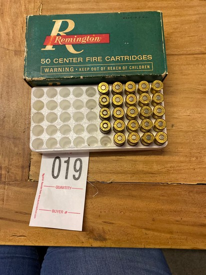 50 Center Fire Cartridges Remington 26 missing cartridges