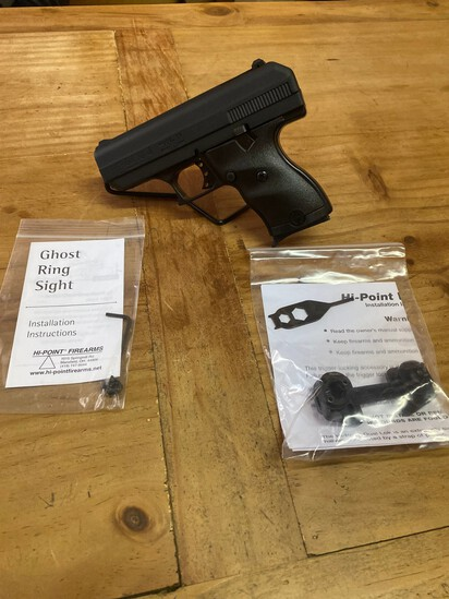 New Hi Point Model C9 9MM black compact Poly Frame with Ghost Sight & Trigger Lock SN#P10151656