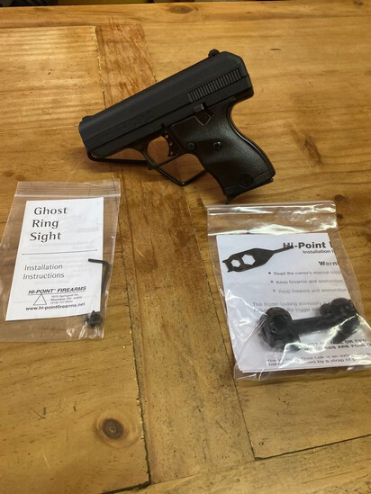 New Hi Point Model C9 9MM Black compact Poly Frame with Ghost Ring Sight & trigger lock Sn#P10151651