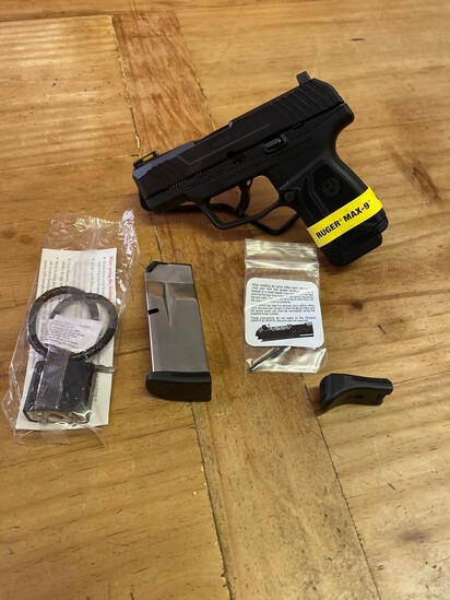 New Ruger Max -9 9MM Black Compact with 2 Mags Sn#350065677