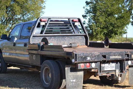 2006 GMC 1-Ton Truck with Cannonball Flatbed