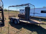 Custom Made Smoker Mounted on Trailer