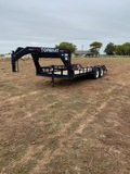 2005 20' Top Hat Gooseneck Utility Trailer