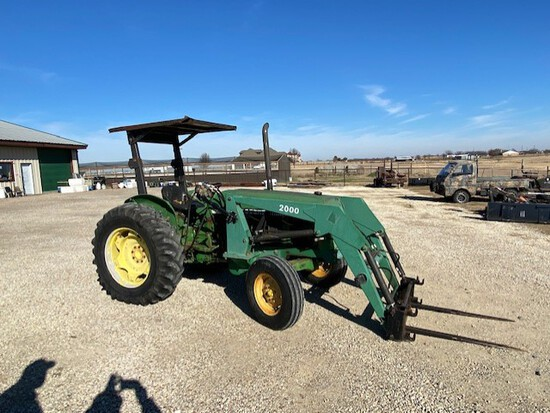 John Deere 2155 Tractor with Front Loader 2WD,
