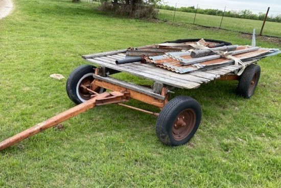 4-Wheel Farm Trailer with Contents