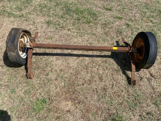 Square Tube Axle with Tires