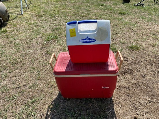 Lot of 2 Small Coolers