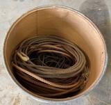 Barrel Full of Used Ropes
