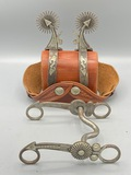Lytle & Mower Double Mounted Spurs & Bit