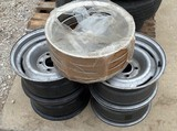 Set of Chevy Rims & Beauty Rings with Lug Nuts