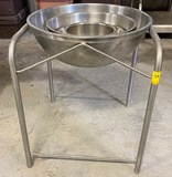 Set of Commercial Mixing Bowls with Stand