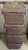 Lot of 4 Continental Carlisle Tempkeeper Insulated Commercial Food Carriers - 4X Money