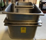 Lot of Misc. Size Stainless Steel Chafing Pans