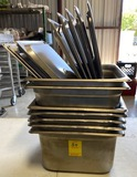 Lot of Misc. Stainless Steel Chafing Pans & Lids