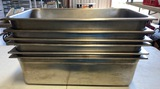 Lot of 7 Stainless Steel Chafing Pans - 7X Money