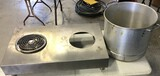 Lot of Large Boiling Pot & Hot Plate