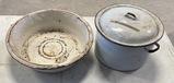 Antique Porcelain Pot and Pan