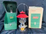 Antique Coleman Lantern Case with Sears Lantern