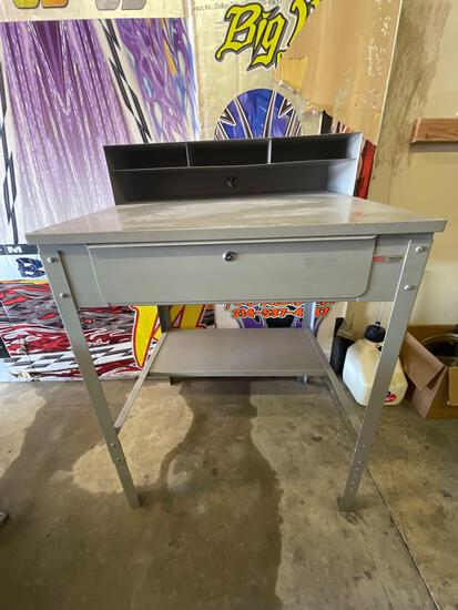 ULINE Work desk 34.5 inches x 30 inches with adjustable legs