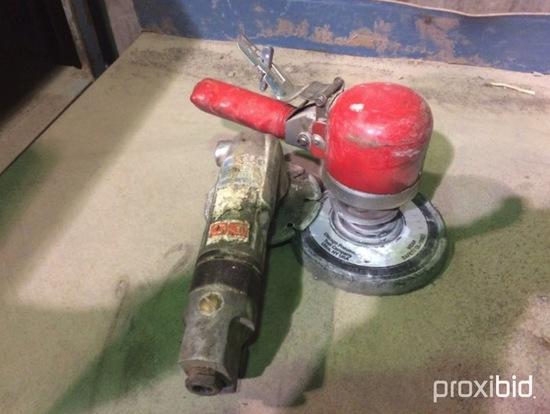 Chicago Pneumatic air buffer & Jet air grinder