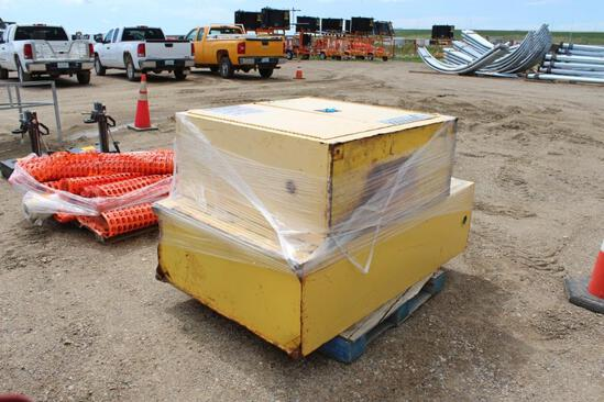 Qty (2) Justrite Flammable Safety Cabinets