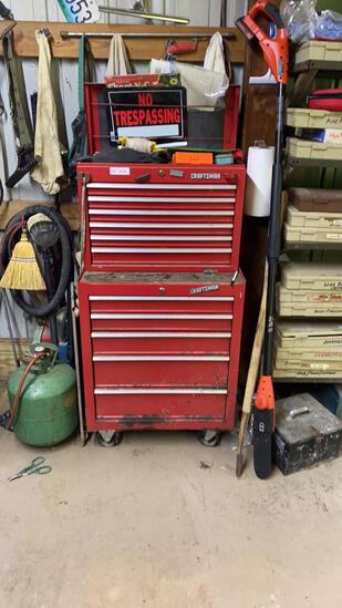 Craftsman stand up tool box w/ contents