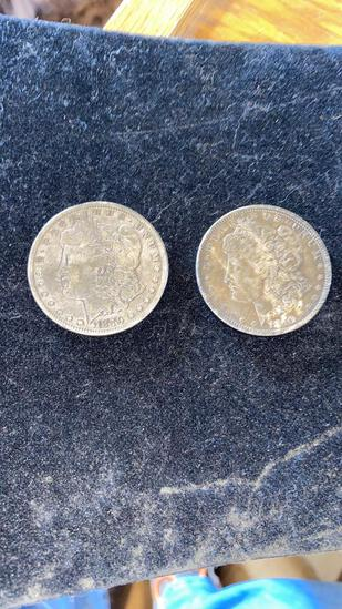 2 Morgan Silver Dollar's