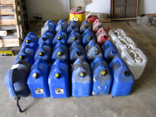 LOT - (28)PLASTIC ASST FUEL CONTAINERS