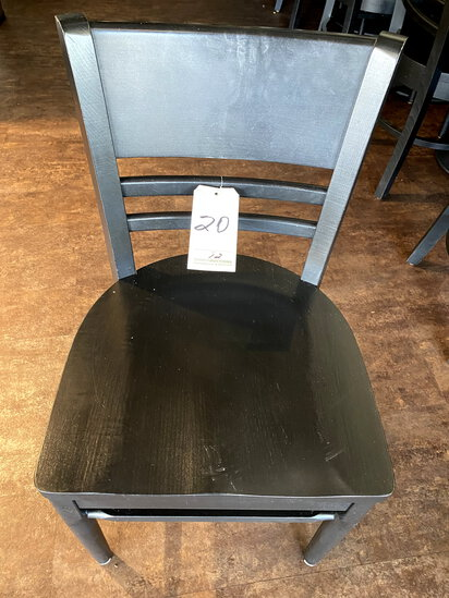 ADRIANO BLACK STAINED WOOD CAFE CHAIRS