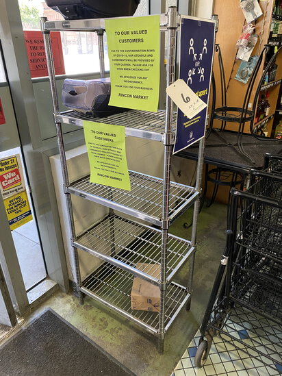 "CHROME 24""X14"" WIRE RACK W/5 SHELVES (RACK ONLY-NO PRODUCT INCLUDED)"