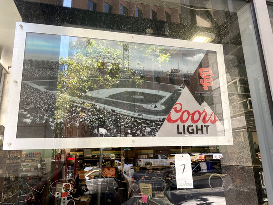 'COORS LIGHT' LIGHTED S.F. GIANTS SIGN
