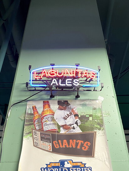 NEON 'LAGUNITAS ALES' BEER SIGN
