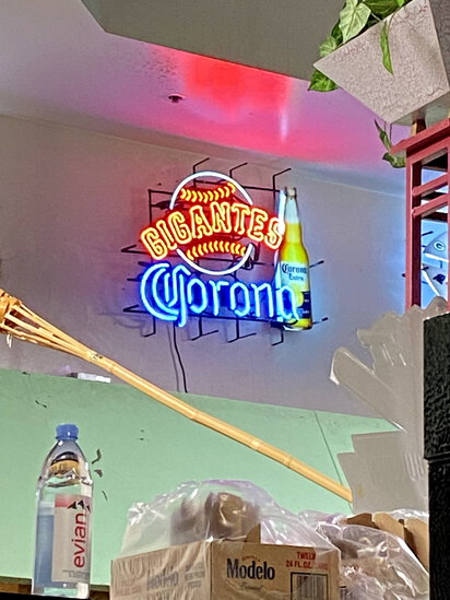 NEON 'CORONA-GIGANTES' BEER SIGN