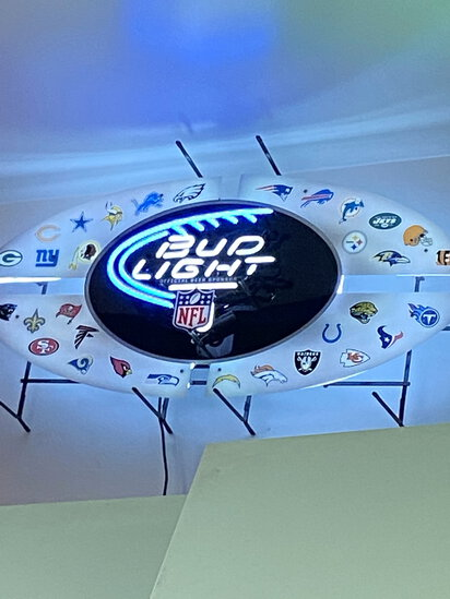 NEON 'BUD LIGHT-NFL' TEAM LOGOS BEER SIGN