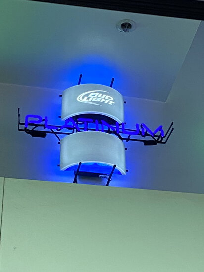 NEON 'BUD LIGHT PLATINUM' BEER SIGN