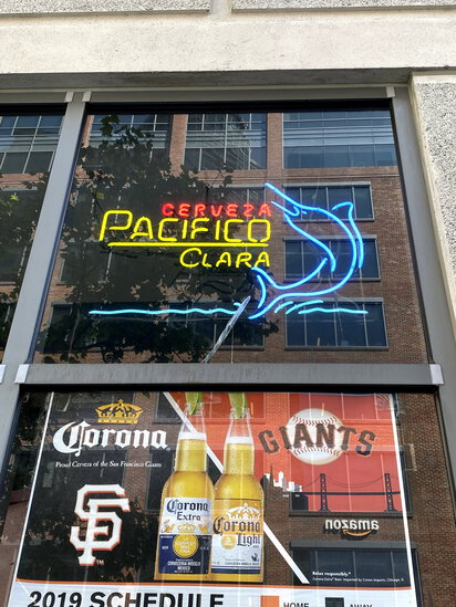 NEON 'PACIFICO CERVEZA CLARA' SAILFISH BEER SIGN