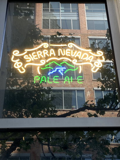 NEON 'SIERRA NEVADA PALE ALE' MOUNTAINS BEER SIGN