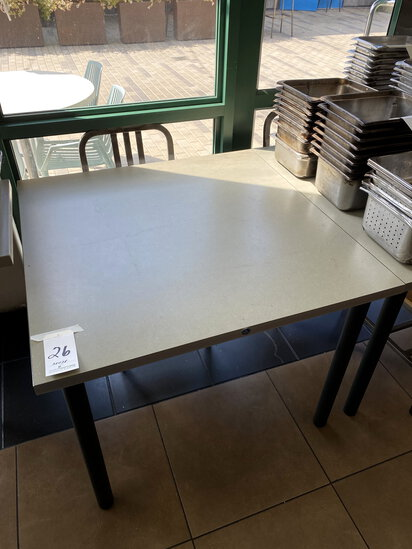 "LAMINATE 38""X38"" ADA TABLES W/(4)BLACK LEGS"