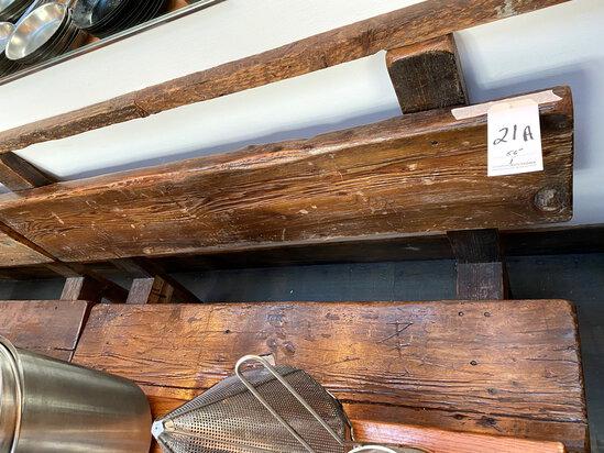 """RUSTIC 56"""" WOOD BENCH W/BACK"""