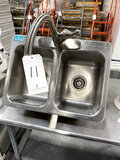 ADVANCE S/S 2-COMPARTMENT DROP-IN SINK W/10