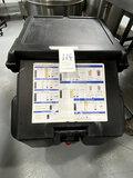 CAMBRO BLACK PLASTIC 100LB CAPACITY ICE CADDIE W/CASTERS MOD. ICS100L110