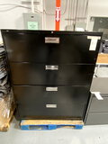 HON BLACK METAL 4-DRAWER 42