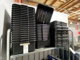 *EACH*NEW BLACK PLASTIC BUS BOXES W/LIDS