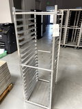 NEW WIN-HOLT ALUMINUM BAKERS RACK W/(20)RAILS (NO CASTERS)
